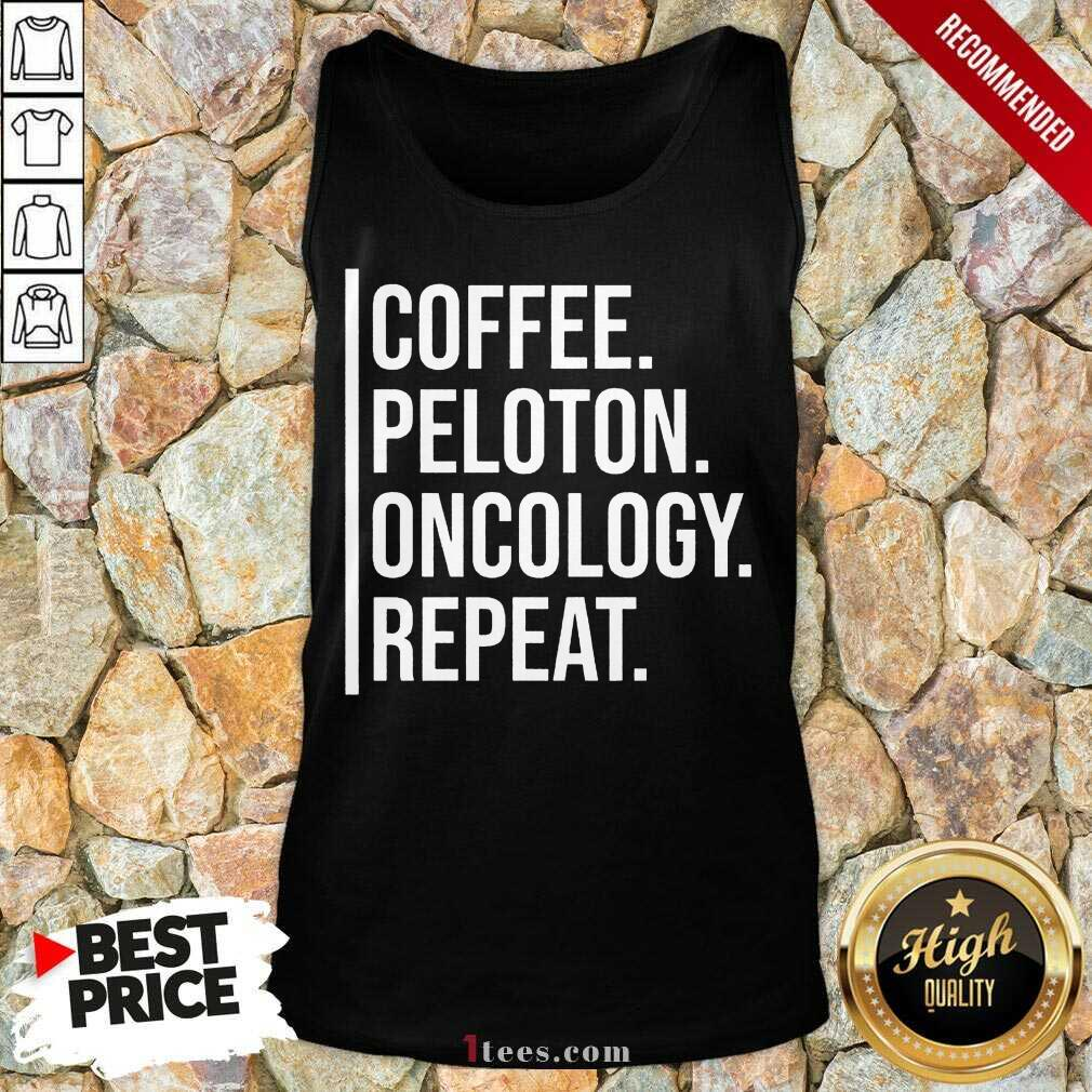 Intrigued Coffee Peloton Oncology Repeat Tank Top