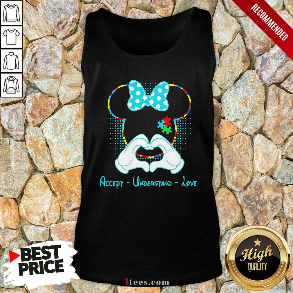 Minnie Mouse Accept Understand Love Tank Top