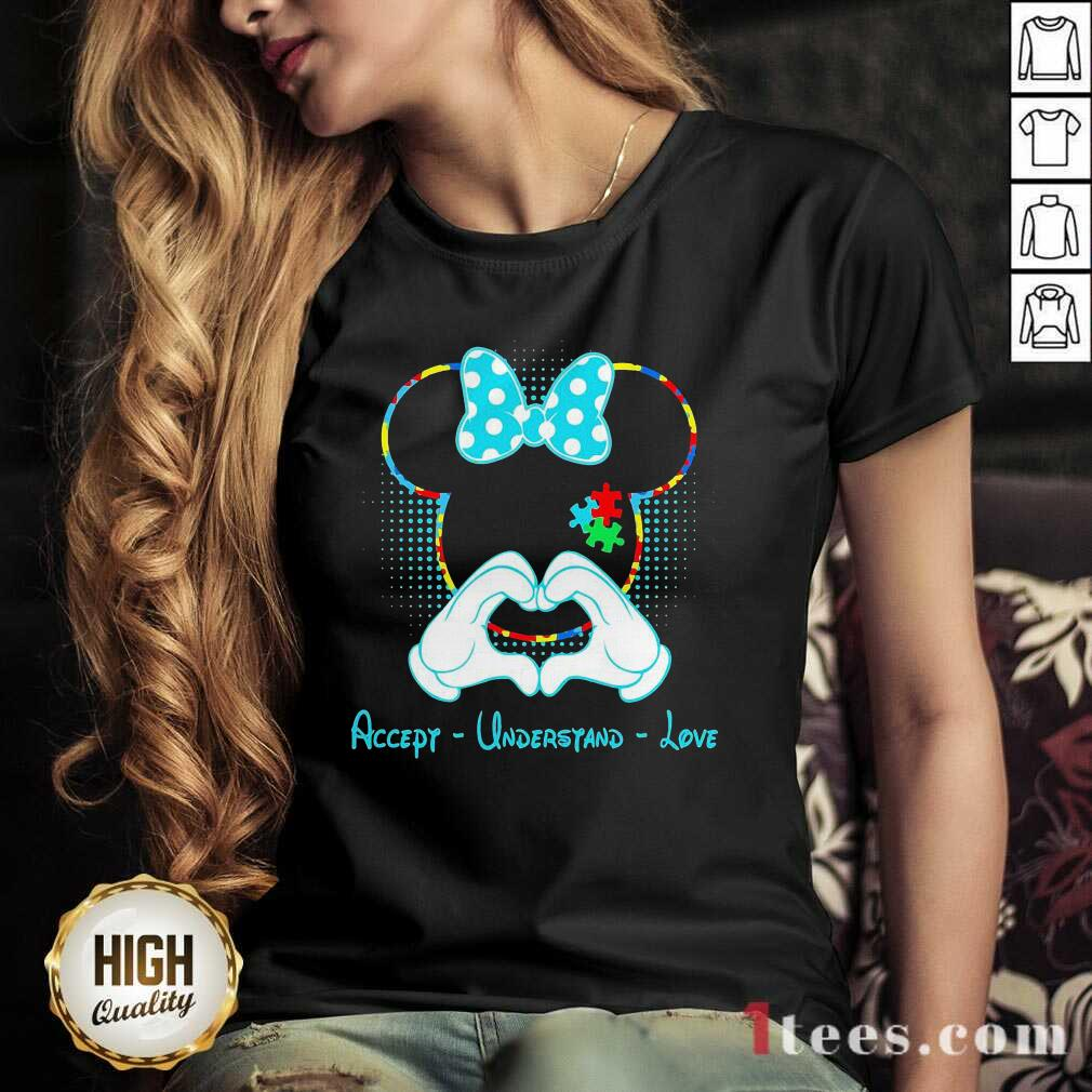 Minnie Mouse Accept Understand Love V-neck