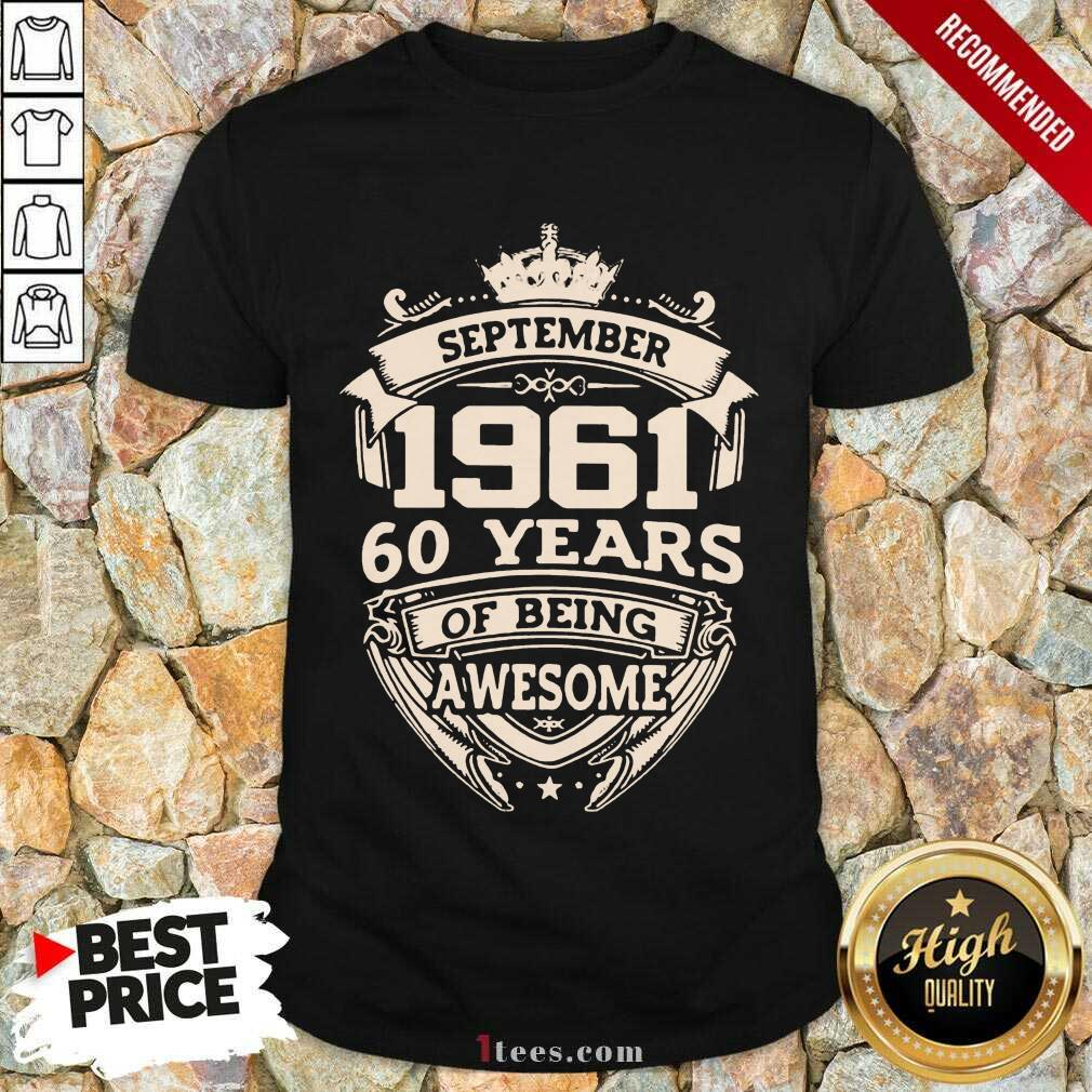 Nonplussed September 1961 60 Years Shirt