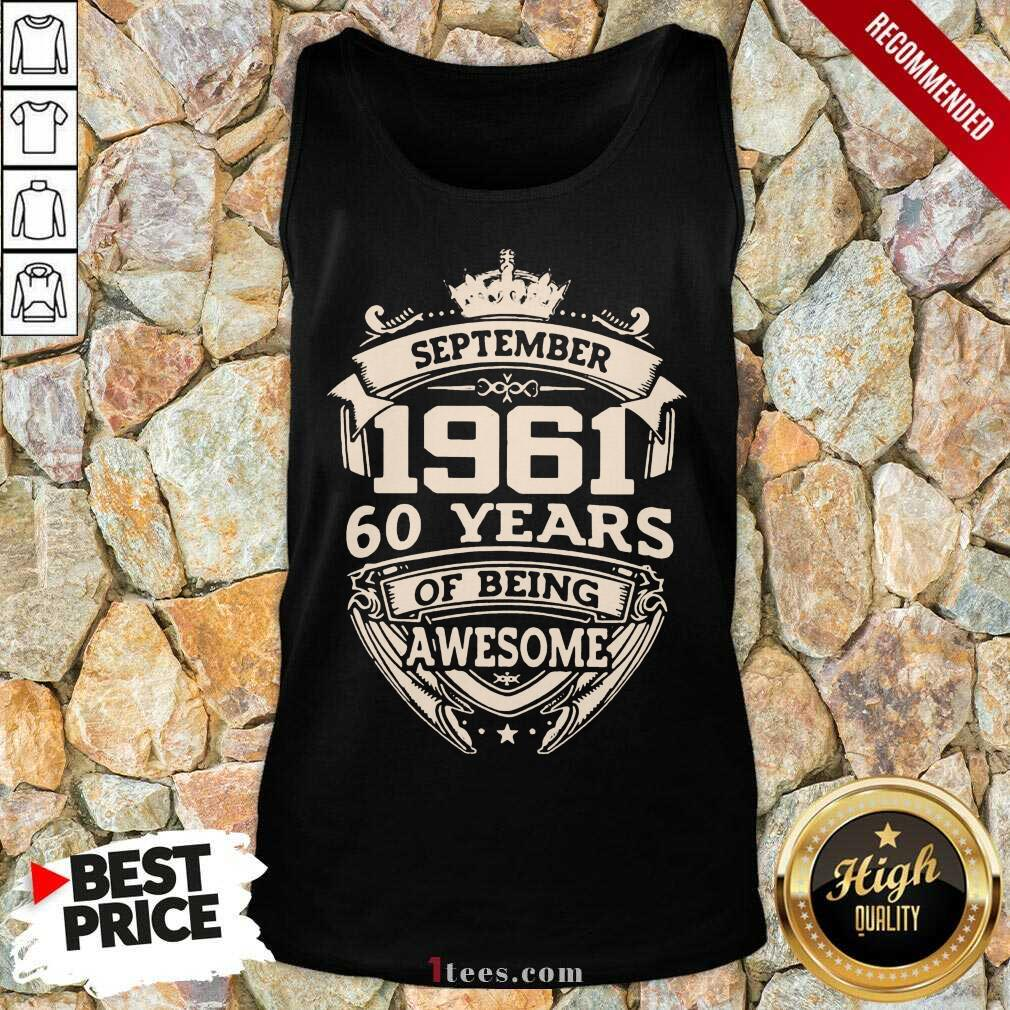 Nonplussed September 1961 60 Years Tank Top