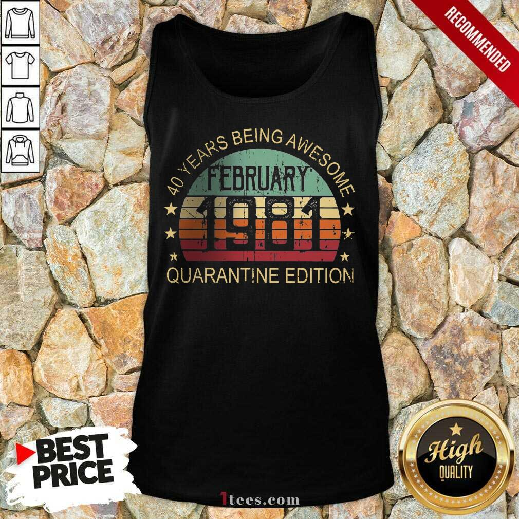 Official Quarantine Edition February 1981 Tank Top