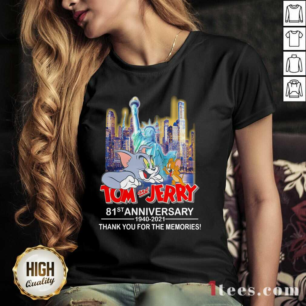 Tom And Jerry 81st Anniversary 1940 2021 Thank You For The Memories V-neck