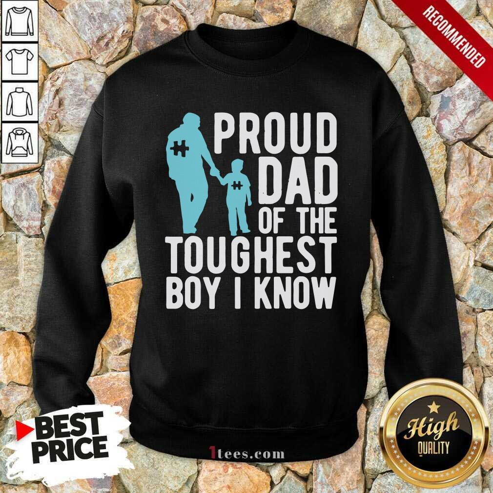 Autism Proud Dad Of The Toughest Boy I Know Sweatshirt