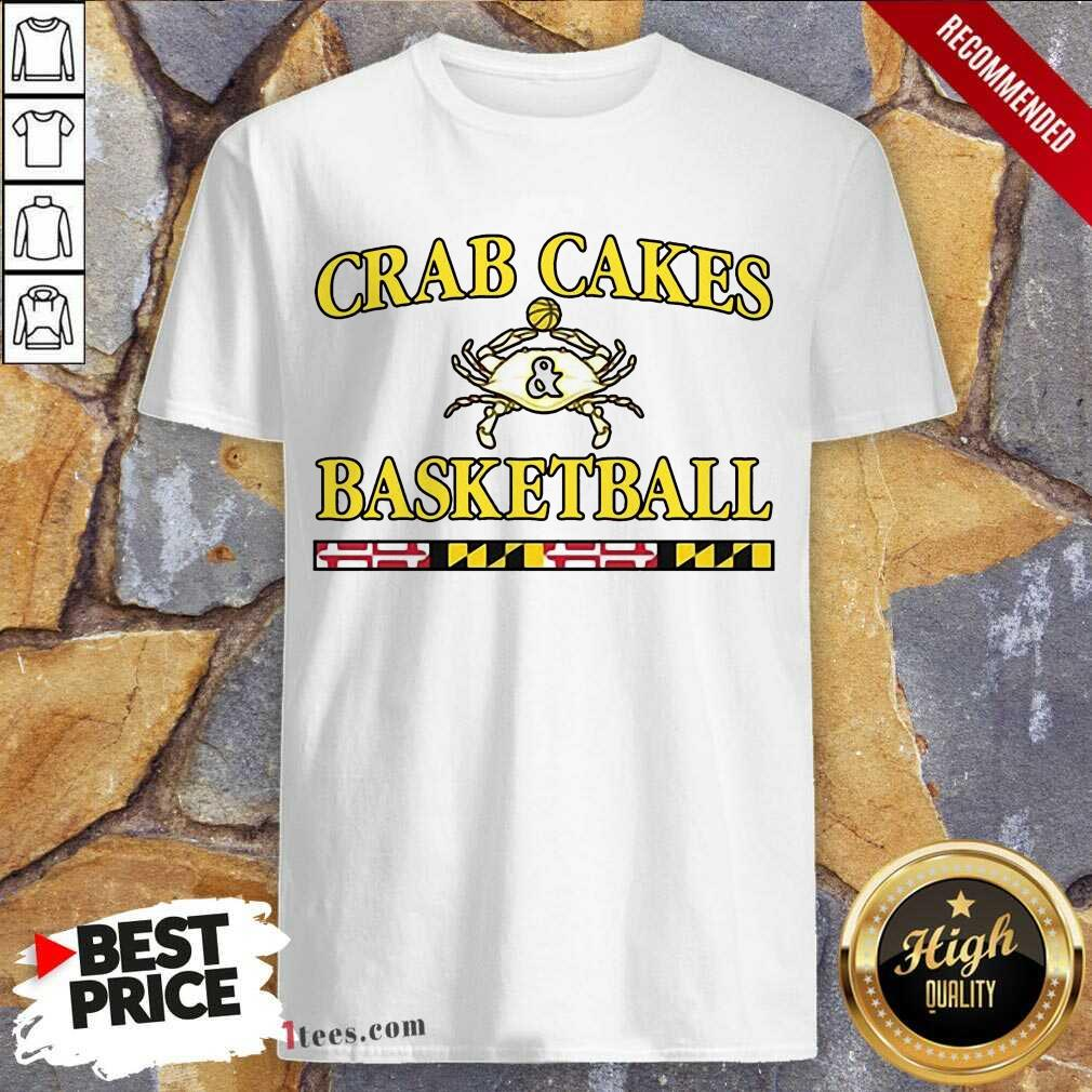 Overjoyed Crab Cakes And Basketball Shirt