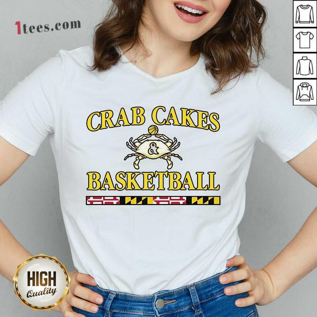 Overjoyed Crab Cakes And Basketball V-neck