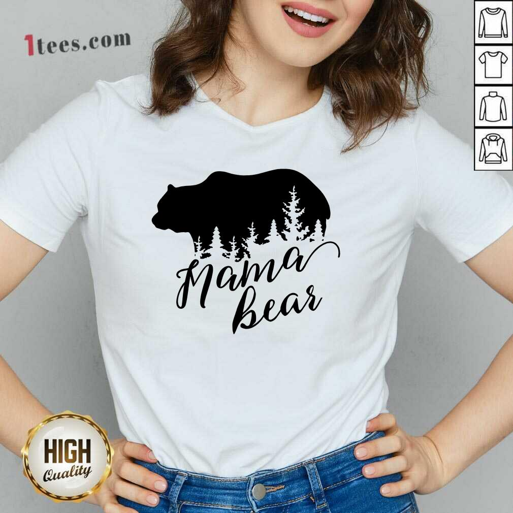 Overjoyed Mama Bear Mothers Day V-neck