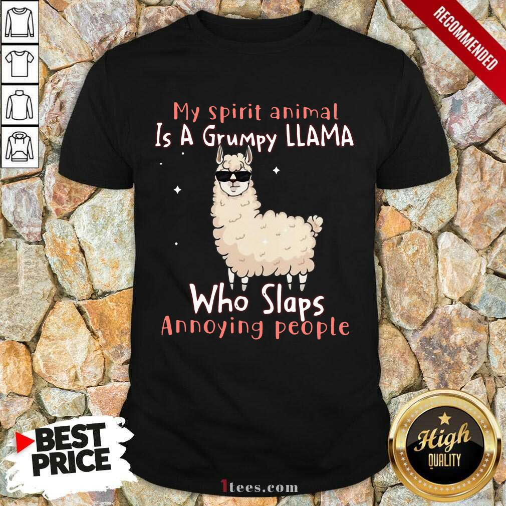 Overjoyed Spirit Animal A Grumpy Llama Who Shirt
