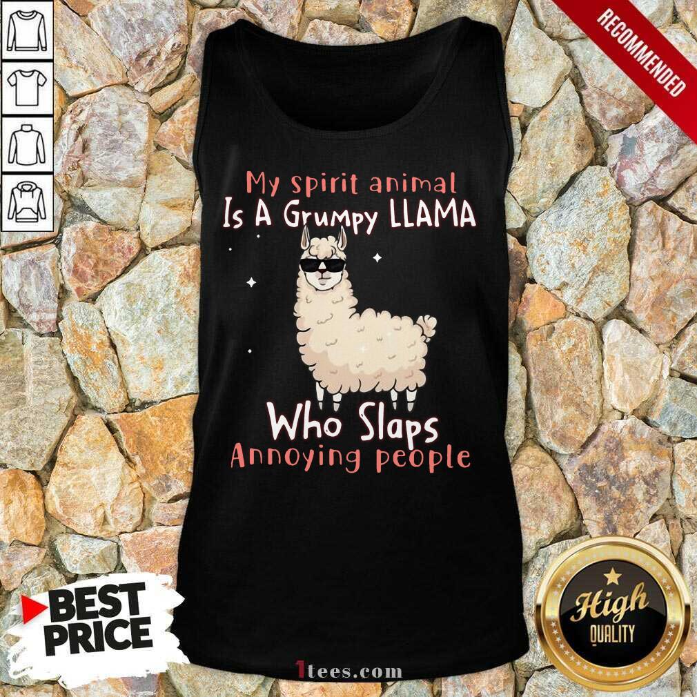 Overjoyed Spirit Animal A Grumpy Llama Who Tank Top