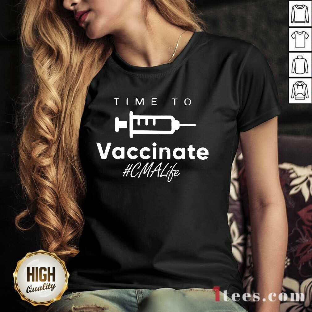 Overjoyed Vaccinate Respiratory CMA Life V-neck