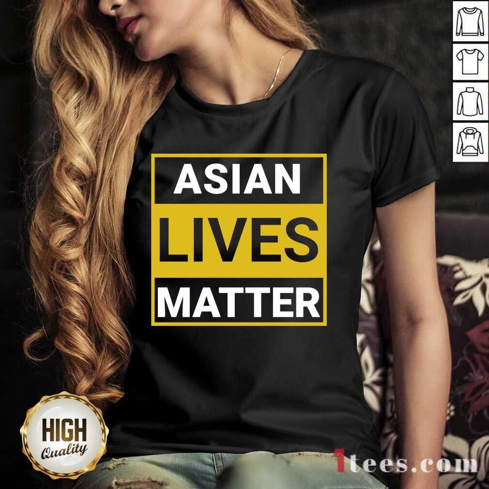 Overwhelmed Asian Lives Matter V-neck
