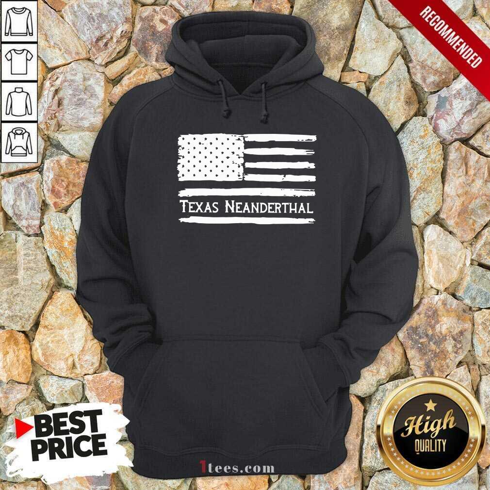 American flag Texas Neanderthal Hoodie