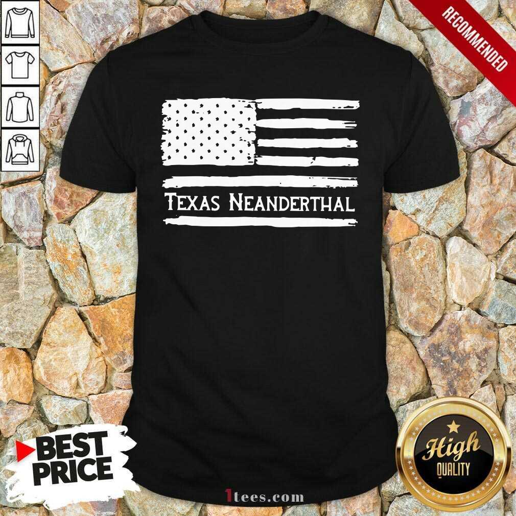 American flag Texas Neanderthal Shirt