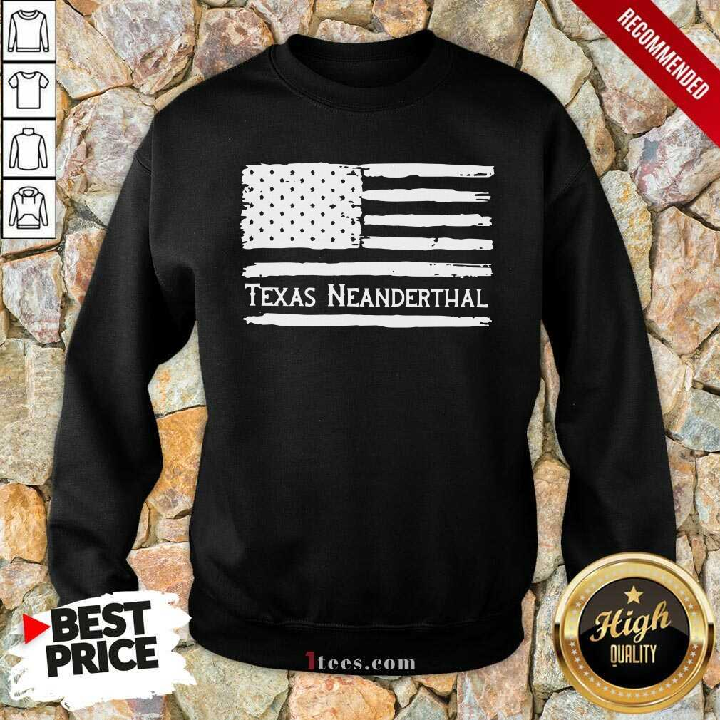 American flag Texas Neanderthal Sweatshirt
