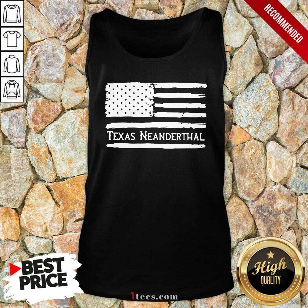 American flag Texas Neanderthal Tank Top