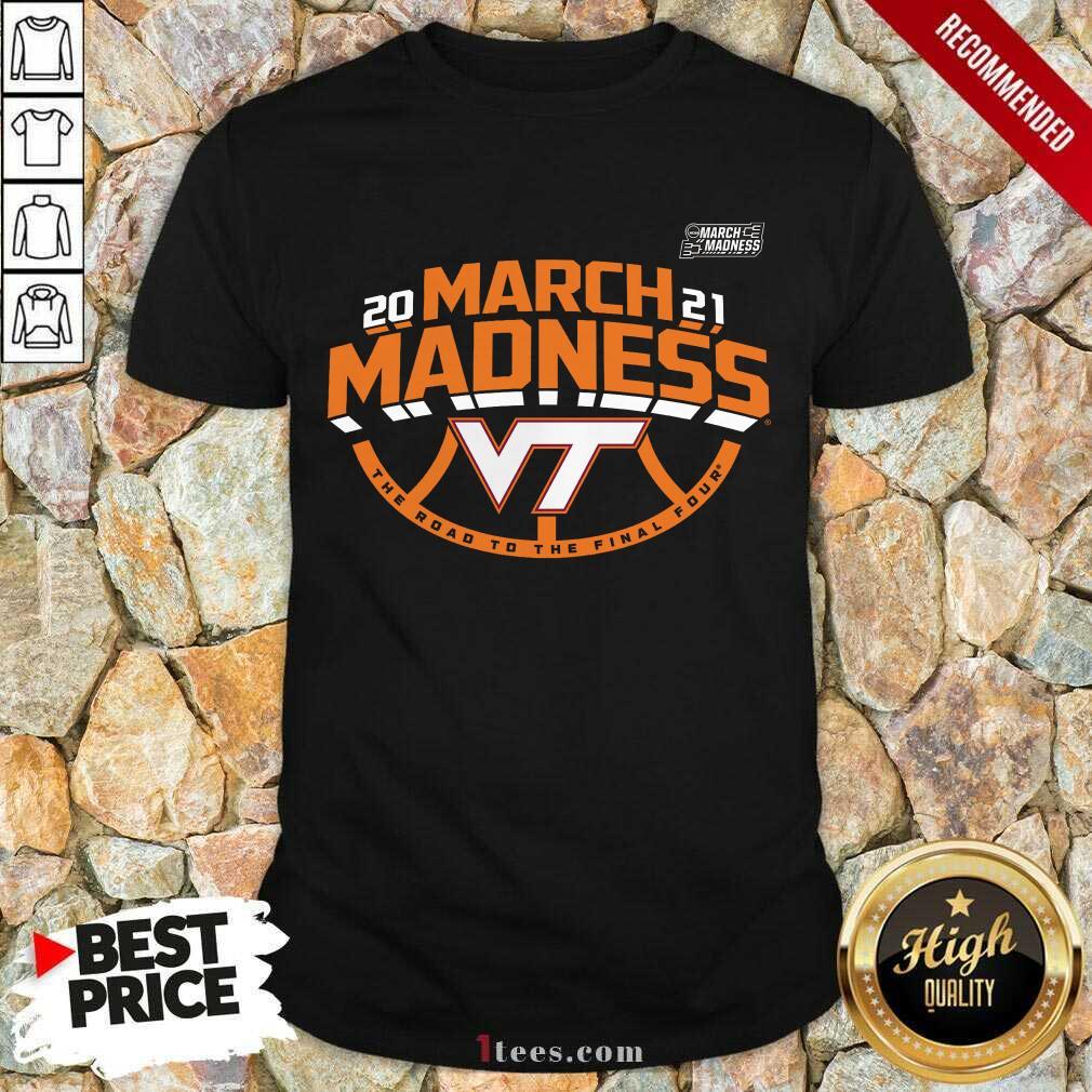 Positive Maroon Virginia Hokies 2021 March Shirt