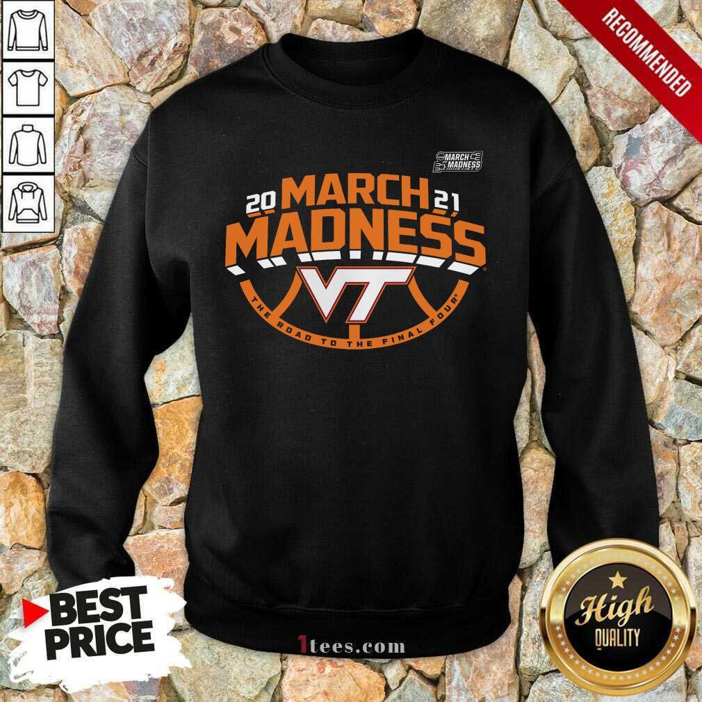 Positive Maroon Virginia Hokies 2021 March Sweatshirt