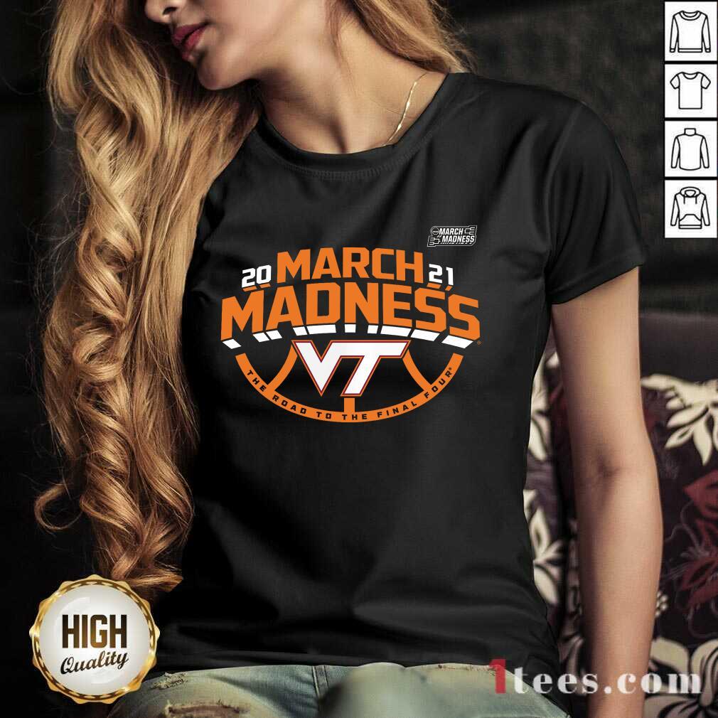Positive Maroon Virginia Hokies 2021 March V-neck