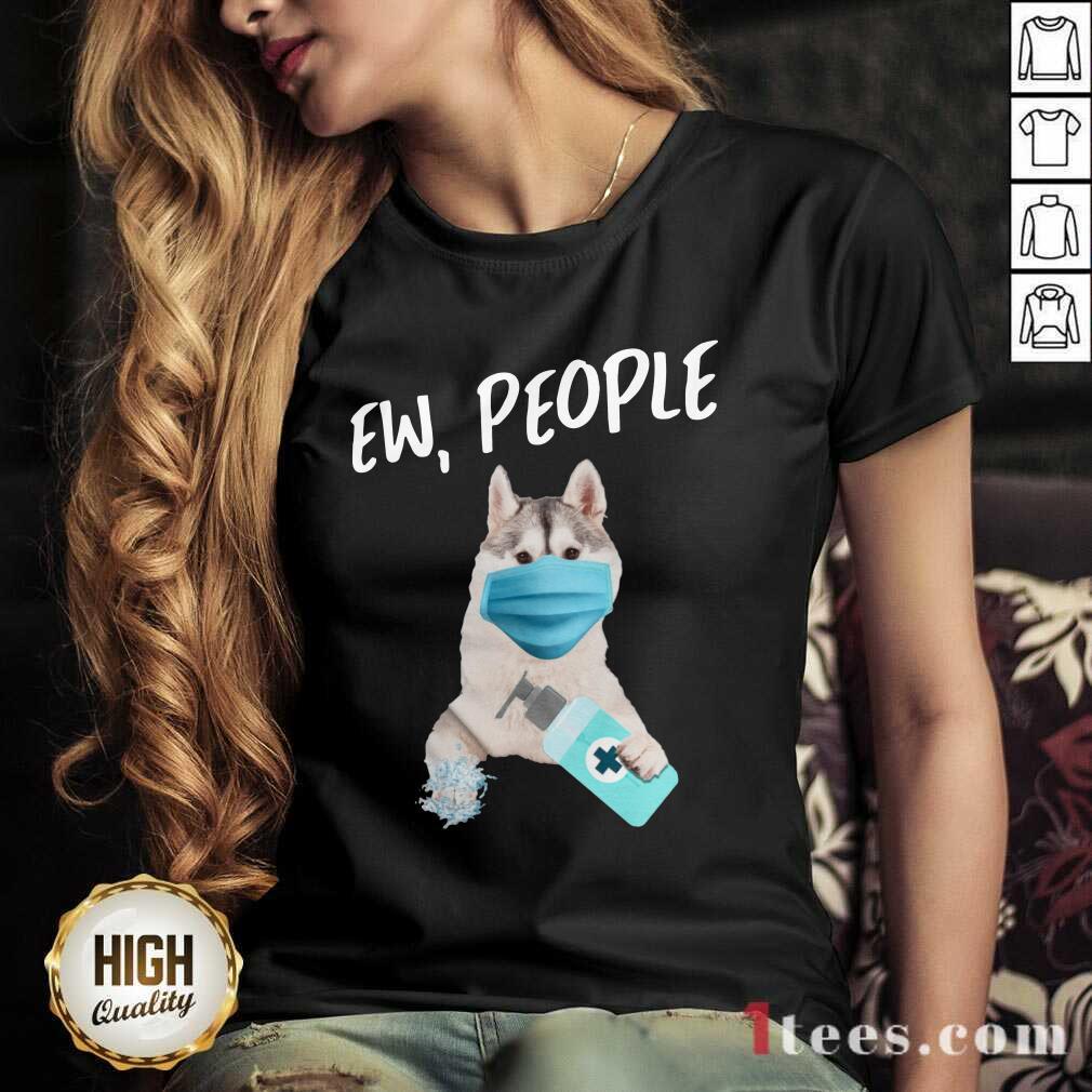 Siberian Husky Face Mask Ew People V-neck