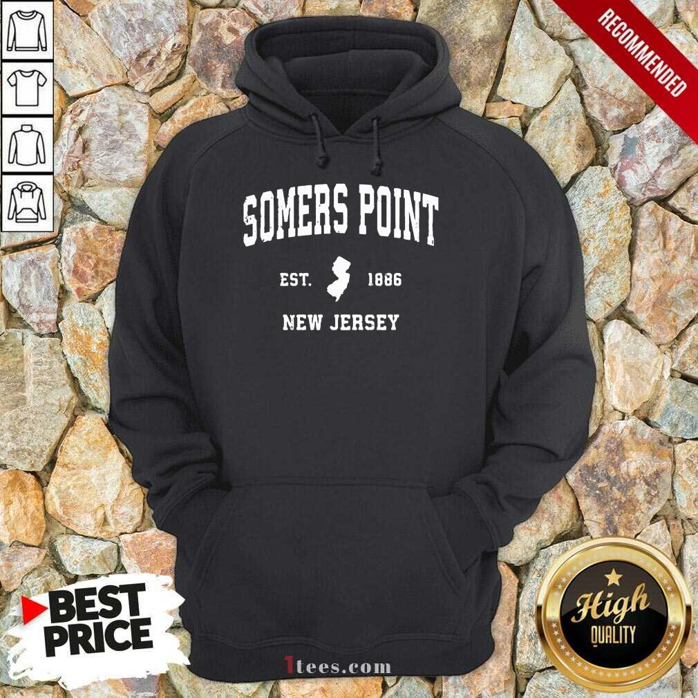 Premium Somers Point New Jersey 1886 Hoodie