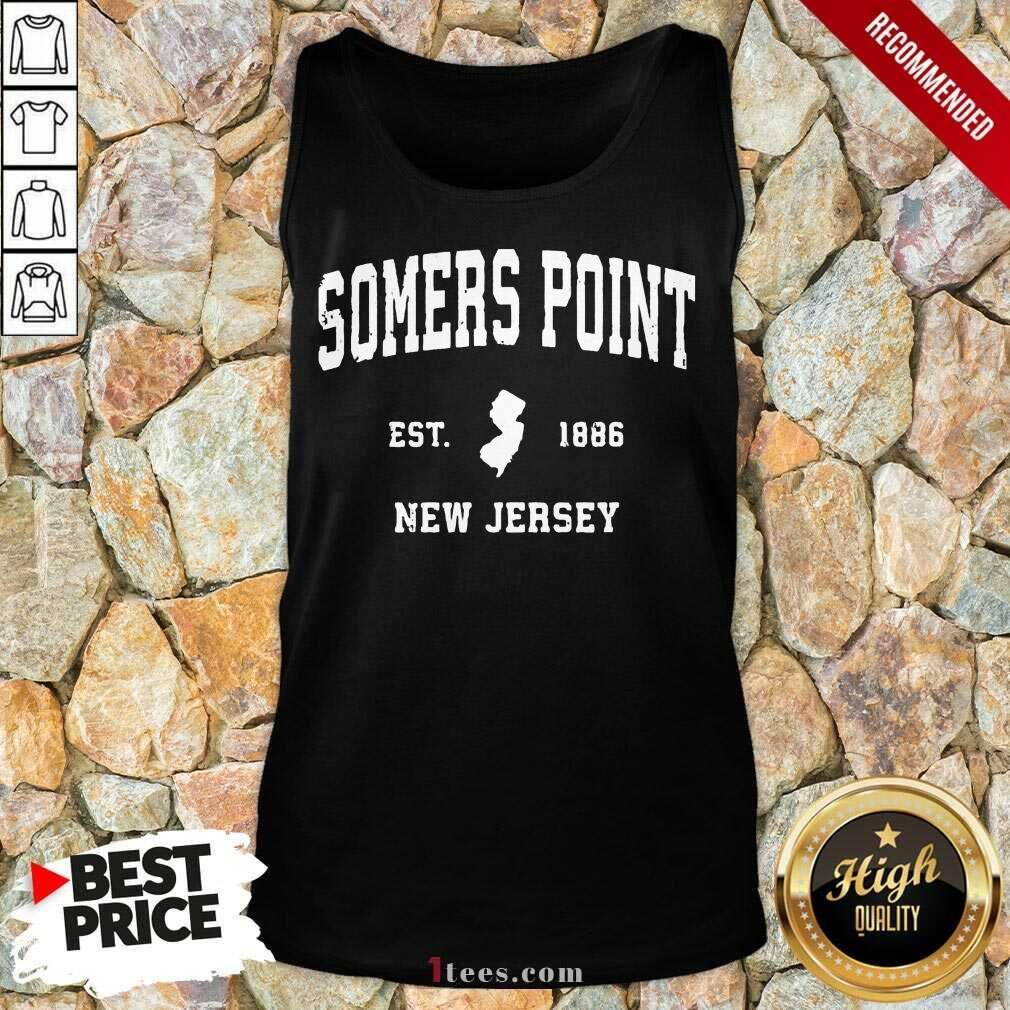 Premium Somers Point New Jersey 1886 Tank Top