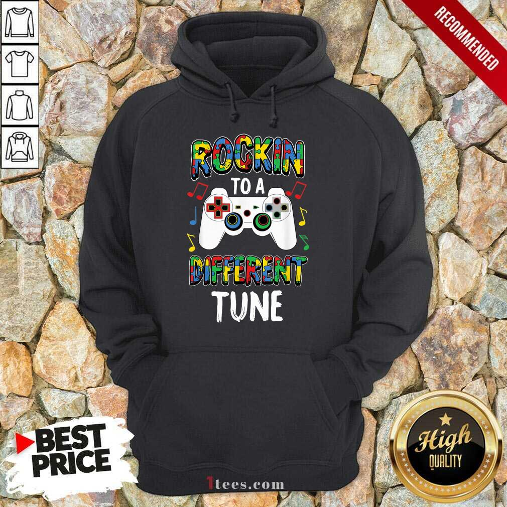 Relaxed Rocking To A Different Tune Controller Autism Hoodie