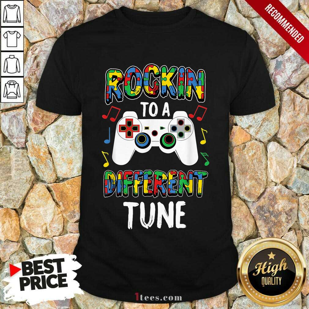 Relaxed Rocking To A Different Tune Controller Autism Shirt