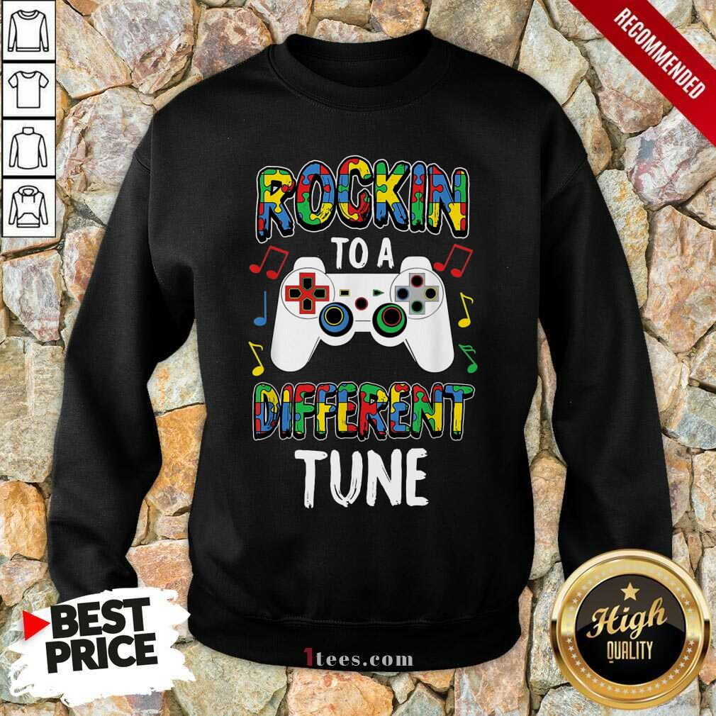 Relaxed Rocking To A Different Tune Controller Autism Sweatshirt