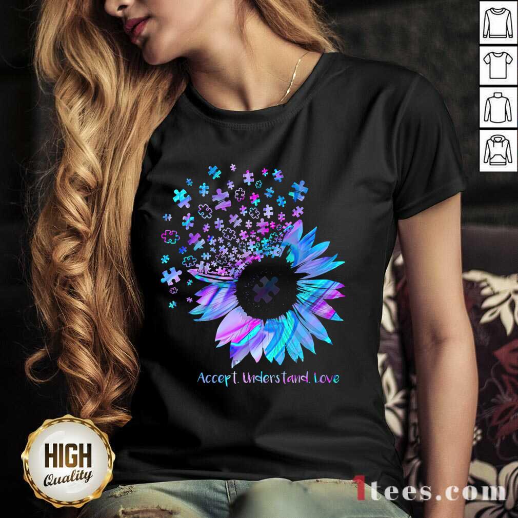 Relaxed Sunflower Accept Understand Love V-neck