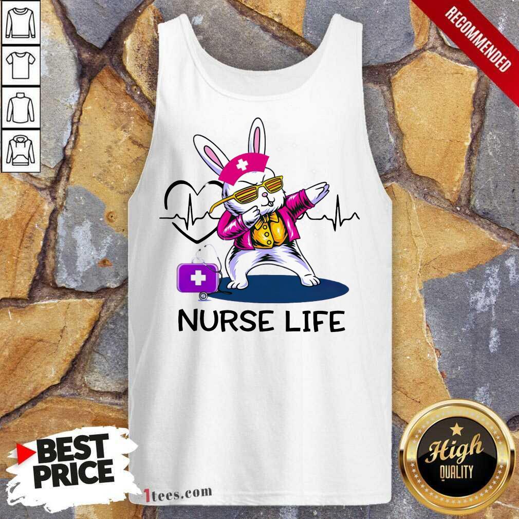 Surprised Bunny Nurse Dab Nurse Life Tank Top