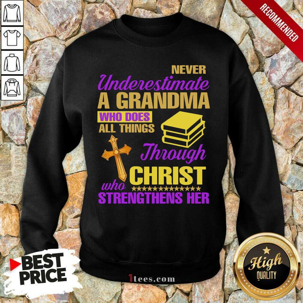 Surprised Underestimate A Grandma Her Sweatshirt