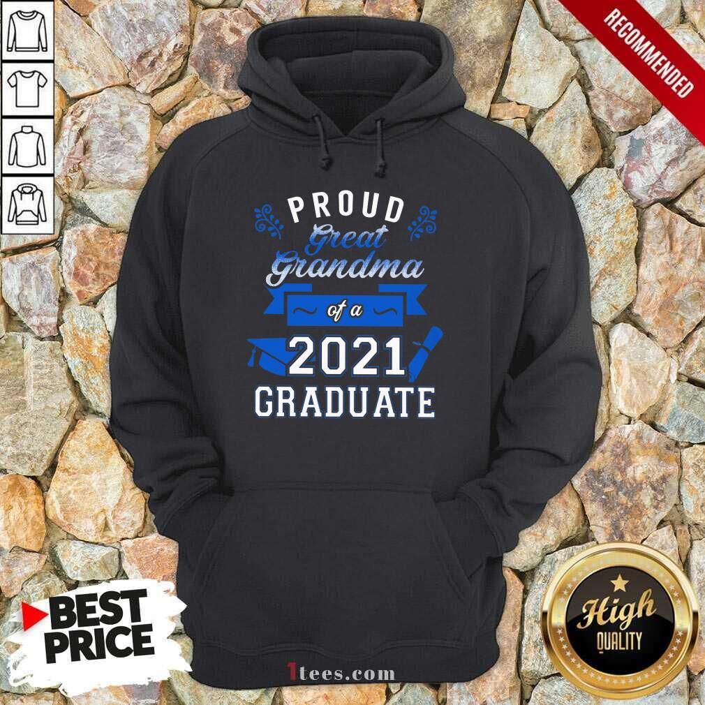 Terrific Proud Grandma 2021 Graduate Blue Hoodie