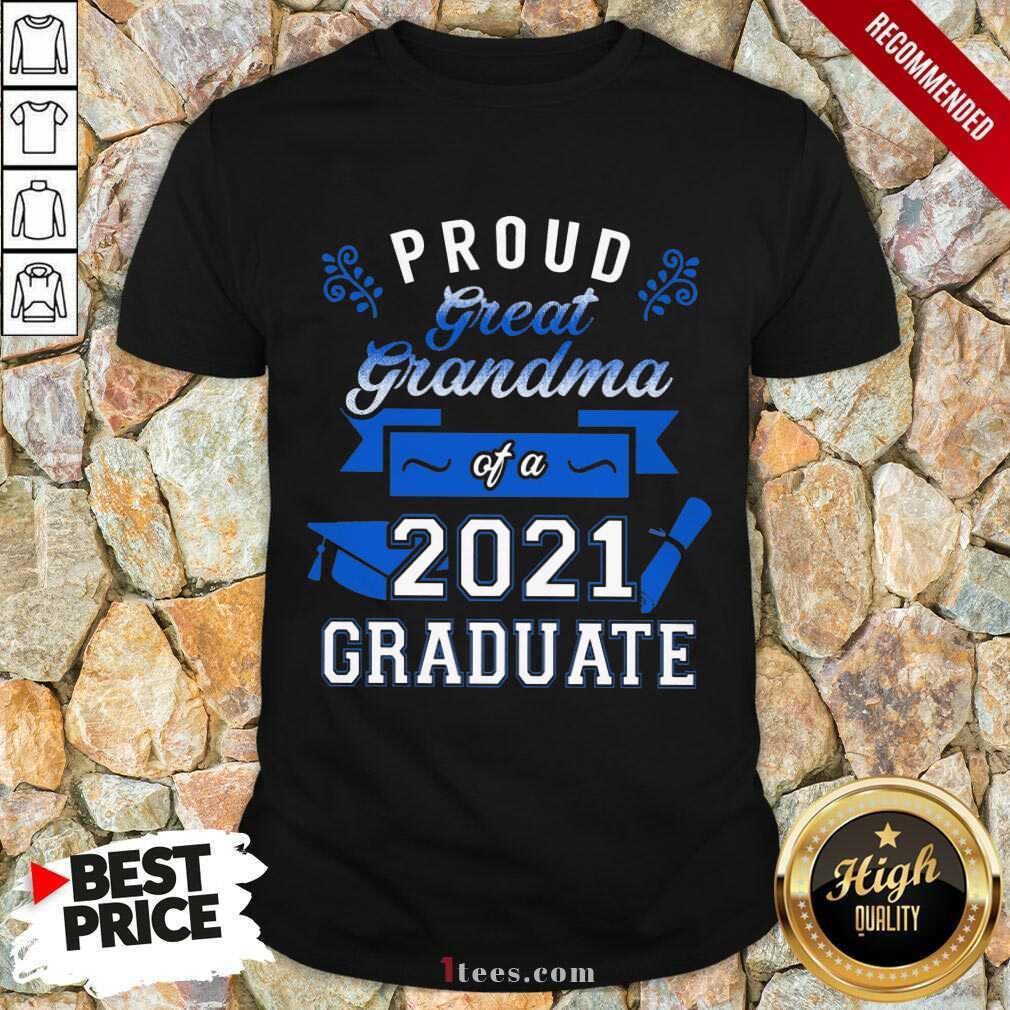 Terrific Proud Grandma 2021 Graduate Blue Shirt