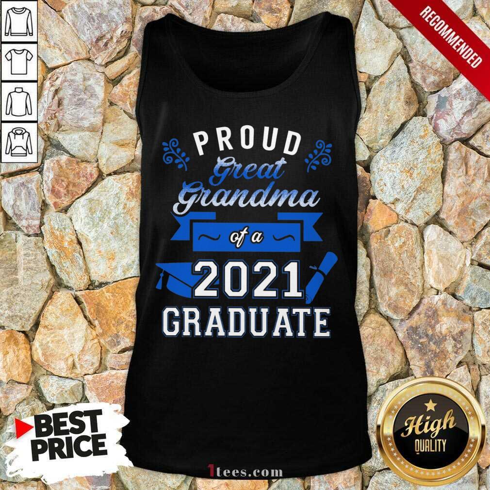 Terrific Proud Grandma 2021 Graduate Blue Tank Top