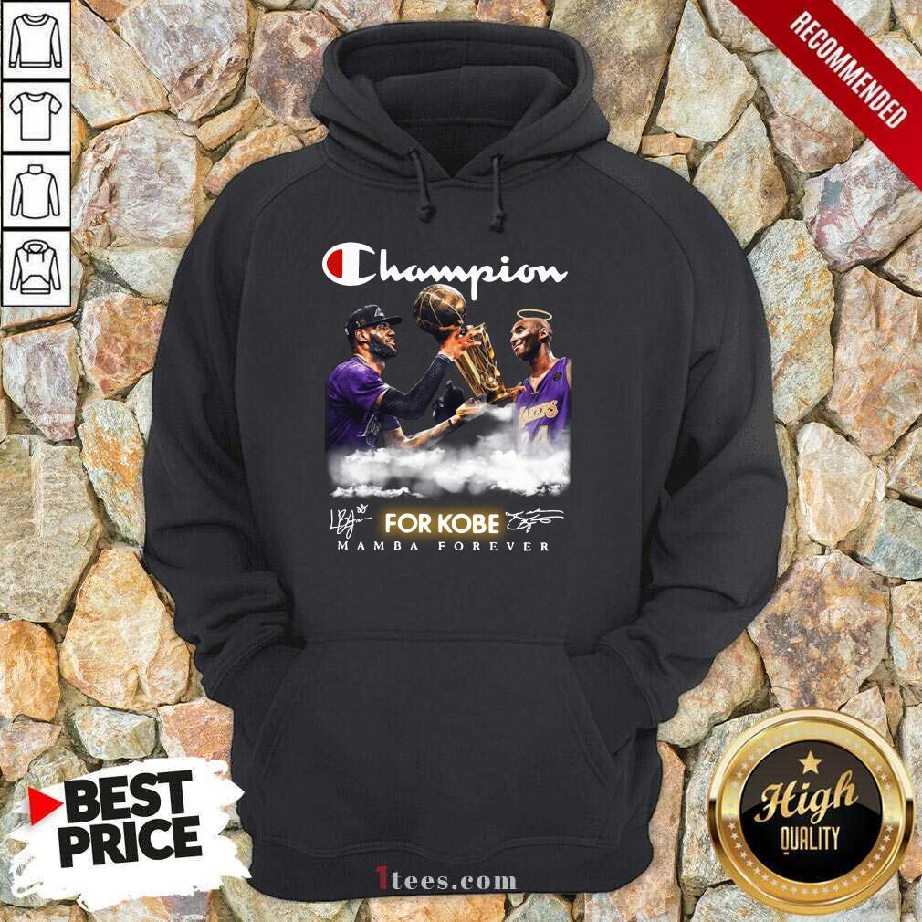 Top Champion Kobe Bryant Vs LeBron James 4 Hoodie