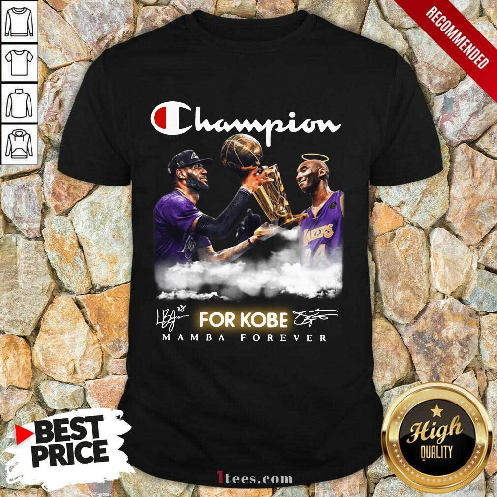 Top Champion Kobe Bryant Vs LeBron James 4 Shirt