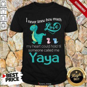 Awesome I Never Knew How Much Love Yaya Saurus Shirt