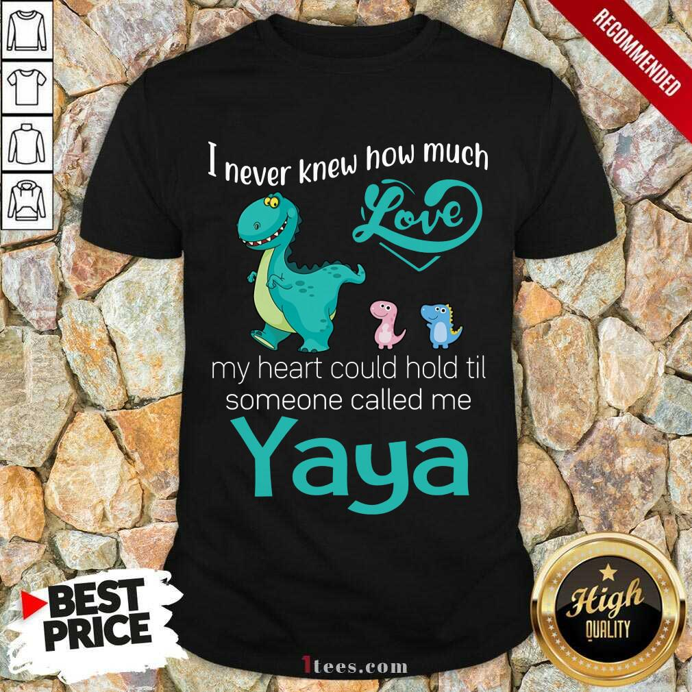 Awesome I Never Knew How Much Love Yaya Saurus Shirt
