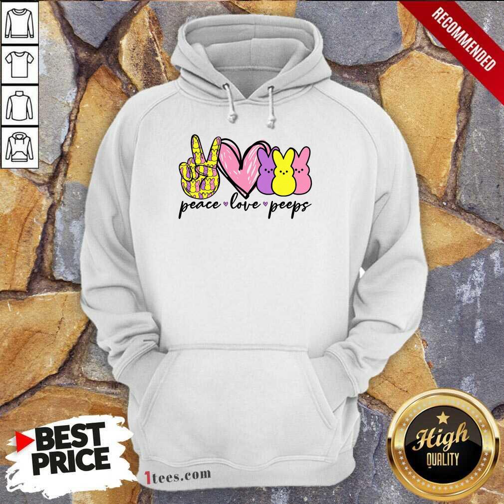 Perfet Peeps Peace Love Bunny Hoodie