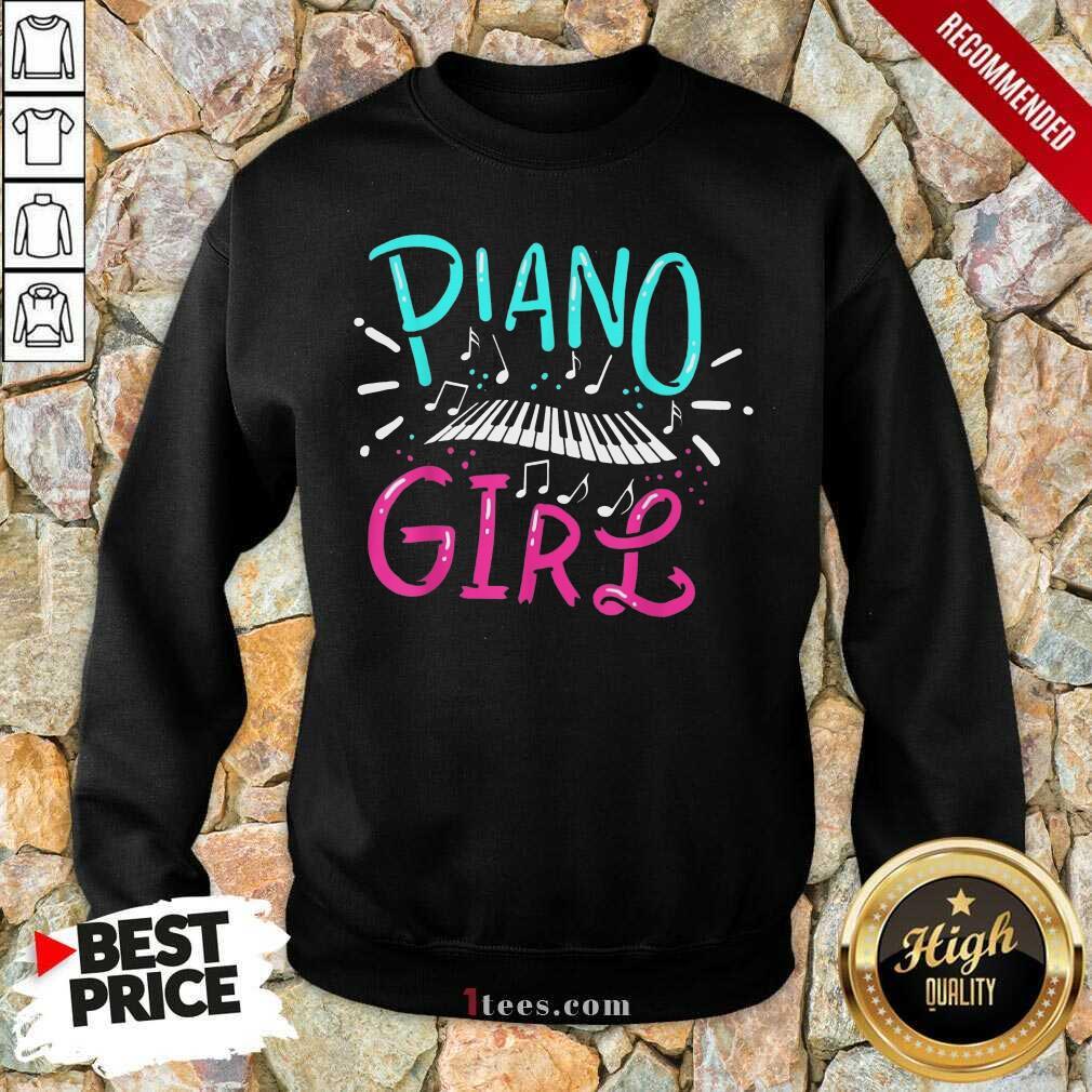 Premium Piano Girl Sweatshirt
