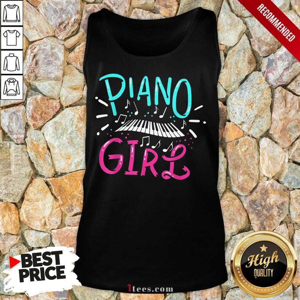 Premium Piano Girl Tank Top