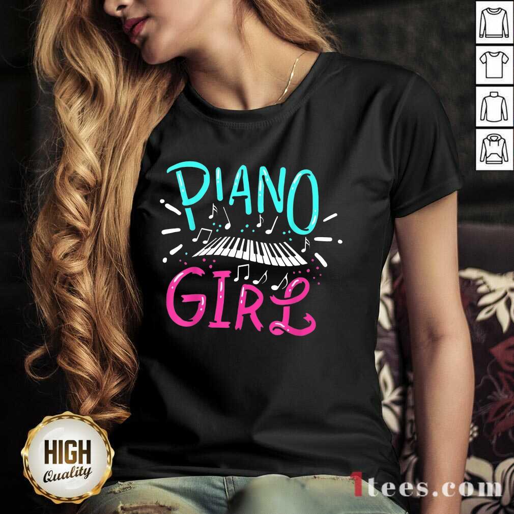 Premium Piano Girl V-neck