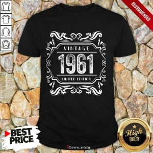 Premium Vintage 1961 Birthday Limited Edition Shirt
