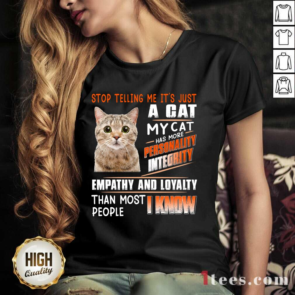 A Cat Personality Integrity Empathy And Loyalty V-neck