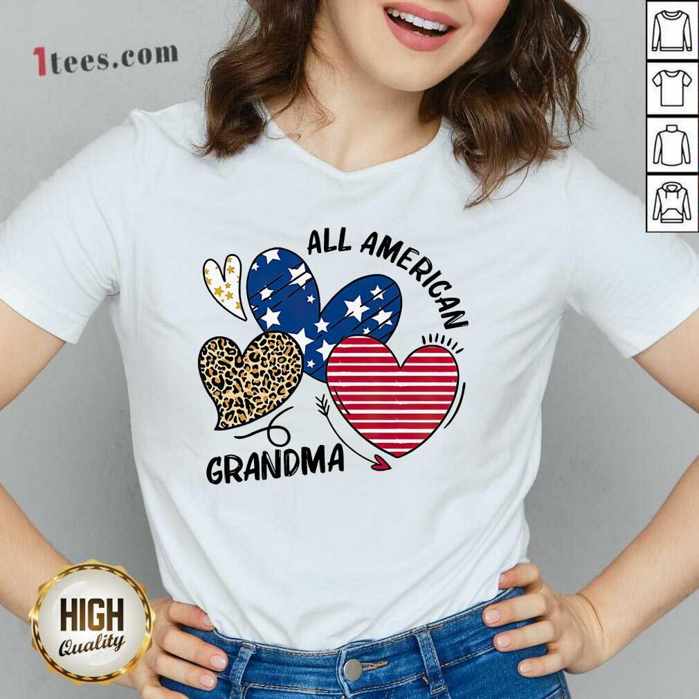 All American Grandma V-neck