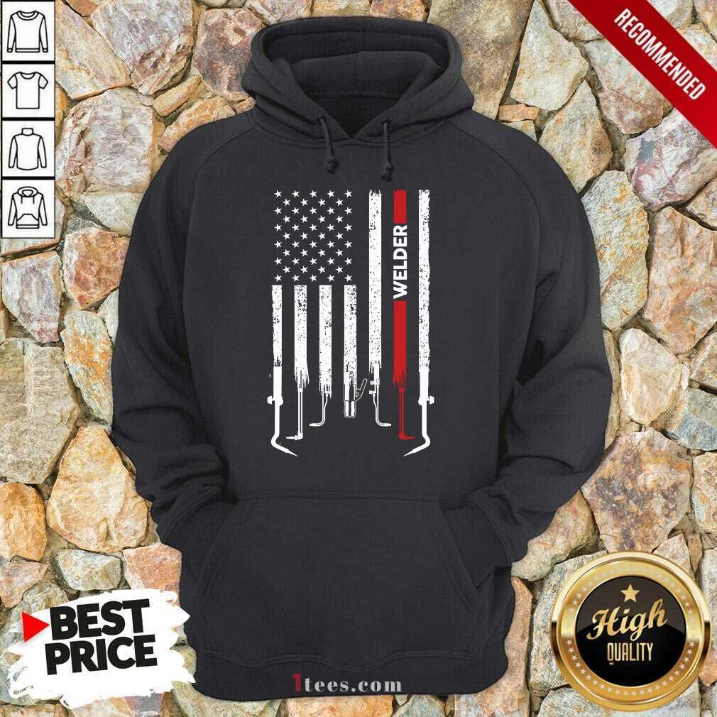 American Flag Welder Hoodie
