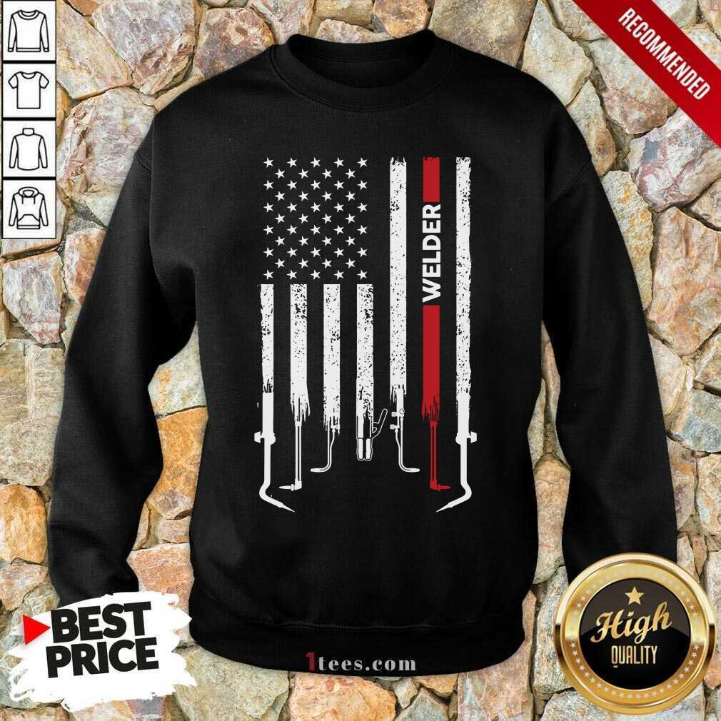 American Flag Welder Sweatshirt