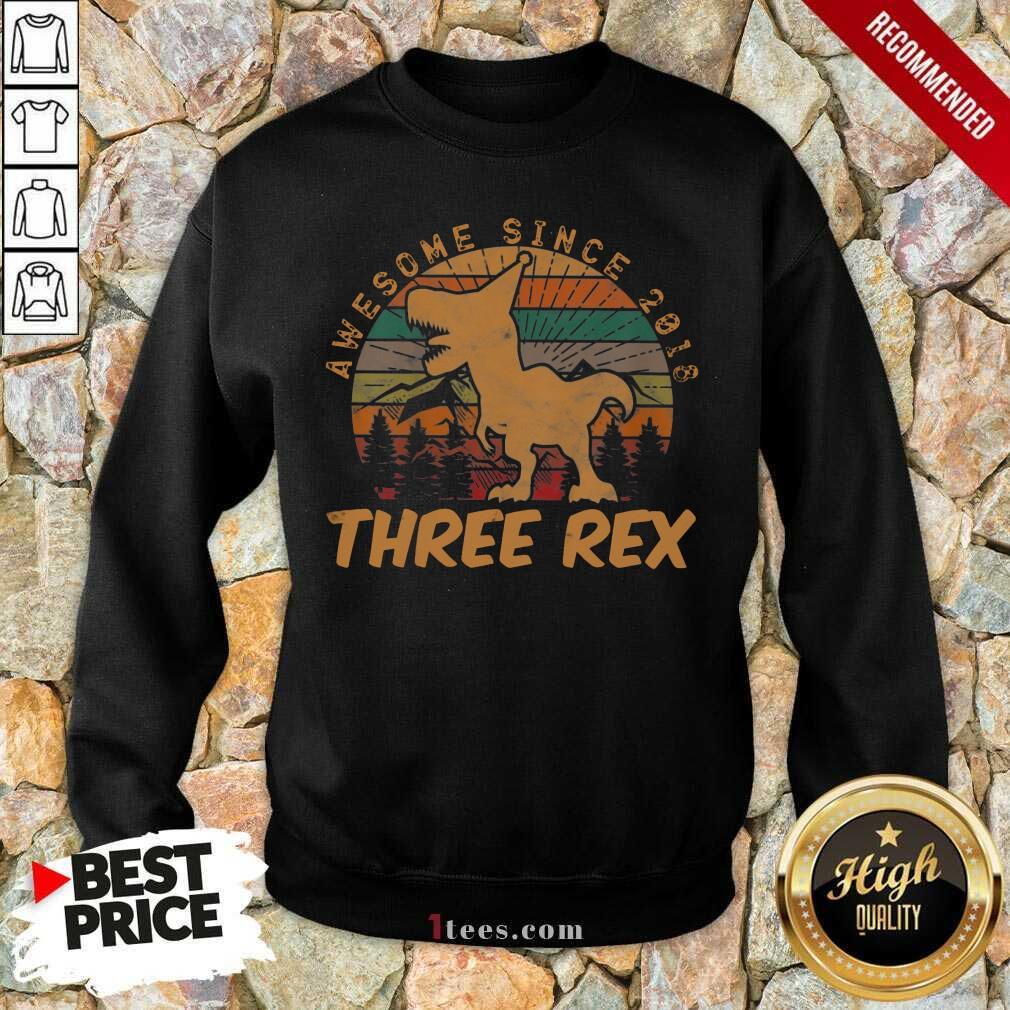 Awesome Since 2018 Three Rex Vintage Sweatshirt