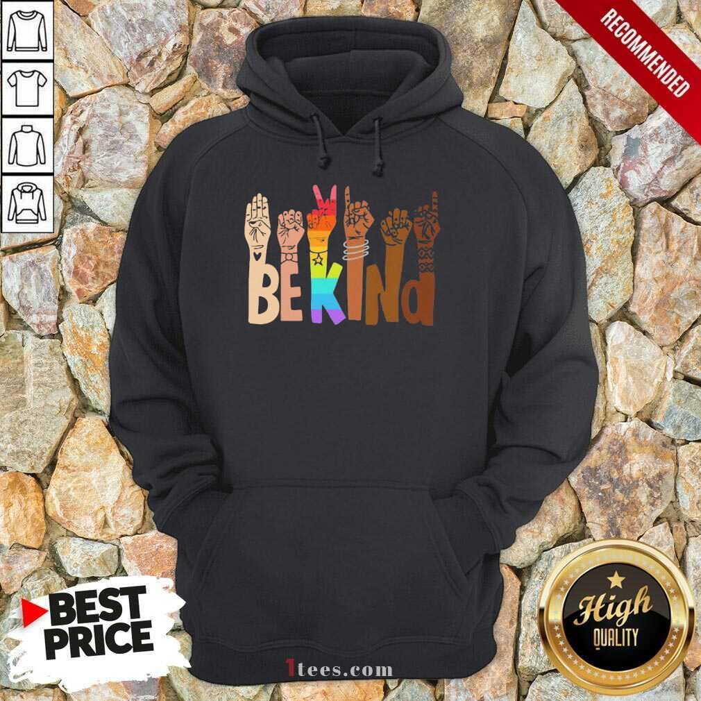 Be Kind Skin Color LGBT Hoodie