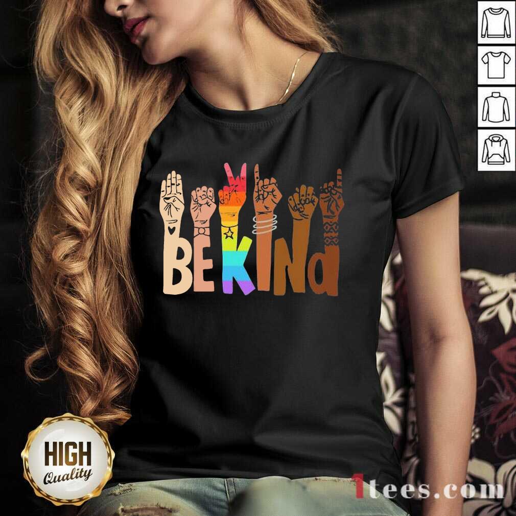 Be Kind Skin Color LGBT V-neck